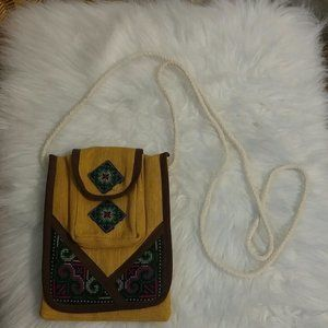 Cross stitch cross body bag
